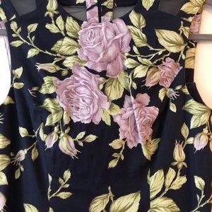 Rag & Bone Navy Floral Fit & Flare